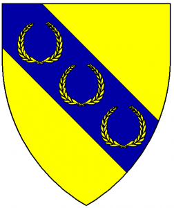 Arms of Kraé Glas, as rendered by Baron Master William Castille.