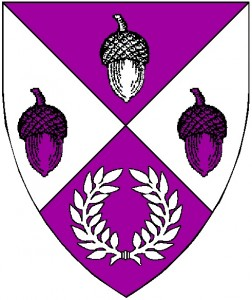 The registered arms of the Canton of Okewaite, rendered by Baron William Castille.