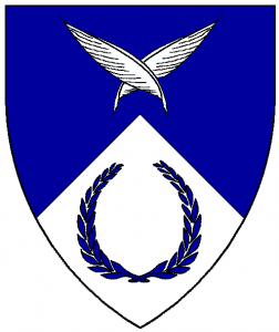 Arms of St Monica, as rendered by Baron Master William Castille.