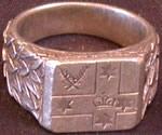 King of Lochac's fealty ring, photo by Lochac Regalia.