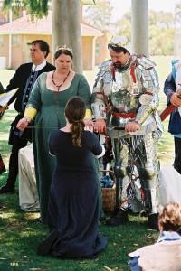 Drake Morgan and Blodeuwedd y Gath, fourth Baron and Baroness of Innilgard. Photo by Lord Hugh de Beaufort.