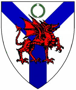 Arms of Abertridwr, as rendered by Baron Master William Castille.