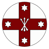Lochac Company of Archers badge from the Company website.