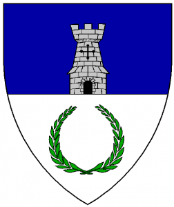 Arms of Dismal Fogs, as rendered by Baron Master William Castille.
