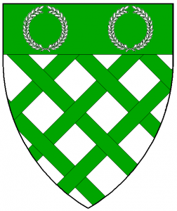 Arms of Willoughby Vale, as rendered by Baron Master William Castille.