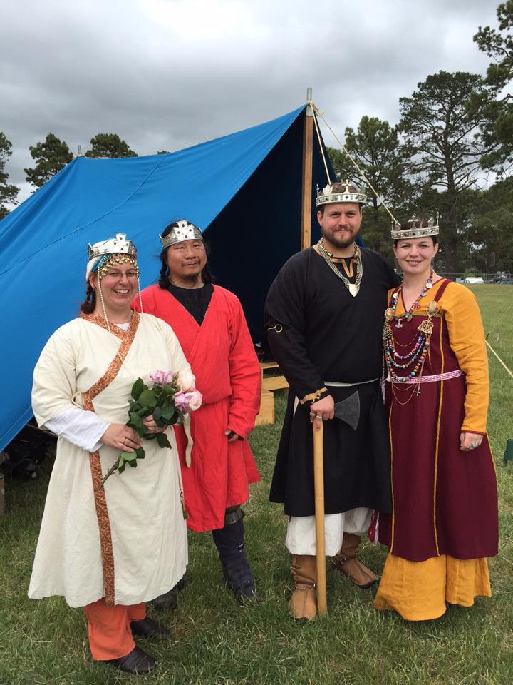 November Crown AS49 with Prince Kingiyaddai, Princess Altani, King Niall II and Queen Liadan II. Photo by TH Lady Ceara Shionnach, November 2014
