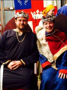 King Niall II and Queen Liadan II at FoG IV. Photo by TH Lady Ceara Shionnach, November 2014.