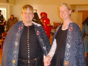 Asbjørn Pedersen Marsvin and Marienna Jensdatter, first Baron and Baroness of Ildhafn. Photo courtesy of Lady Anna de Wilde.