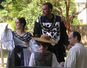 Gabriel de Beaumont and Constanzia Moralez y de Zamora, first Baron and Baroness of Saint-Florian-de-la-rivière. Photo by Gryffyd Ruddlyn (as published on the St Florian website).