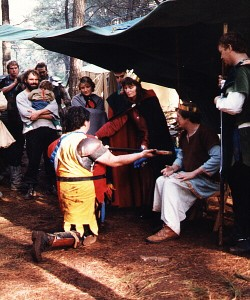 Steveg Stevegsson and Rhianwen ni Dhiarmada, first Baron and Baroness of Aneala. Photo courtesy of Sir André de Montségur.