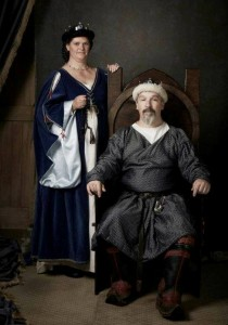 Hanbal al-Barbari and Ute von Tangermünde, eighth Baron and Baroness of Stormhold. Photo by Amber McCraig.