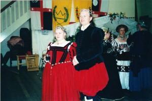 François Henri Guyon and Aelfthrythe of Saxony, second Baron and Baroness of Politarchopolis. Photo courtesy of Baroness Aelfthrythe of Saxony.