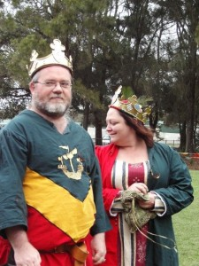 Gilchrist Morgan and Lillian d'Ath, second Baron and Baroness of Mordenvale. Photo by Lady Fenissa Æriksdotter.
