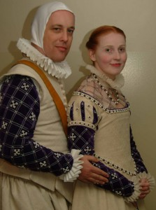 Giles Leabrook and Maud la leitiere, second Baron and Baroness of Saint-Florian-de-la-rivière. Photo by Baroness Maud's father (as published on the St Florian website).
