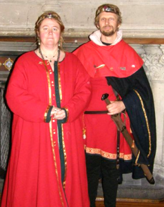 Bartholomew Baskin and Katherine Kerr of the Hermitage, third Baron and Baroness of Southron Gaard. Photo courtesy of Mistress Katherine Kerr of the Hermitage.