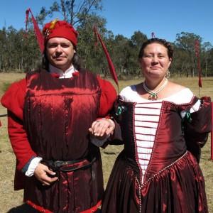 Ludwig von Lichtenstein and Anastasia del Valente, third Baron and Baroness of Mordenvale. Photo courtesy of Baroness Anastasia del Valente.