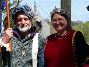 Aylwin Greymane and Ingerith Ryzka, fifth Baron and Baroness of Innilgard. Photo courtesy of Baroness Ingerith Ryzka.