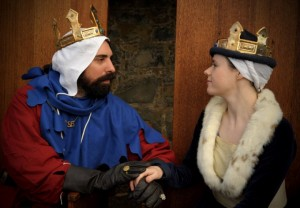 Lucas Maxwell and Madeleine de Chalôns, fifth Baron and Baroness of Ynys Fawr. Photo courtesy of Elena Anthony.