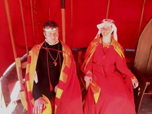 Oswyn Carolus and Isabel Maria del Aguila, fifth Baron and Baroness of Southron Gaard. Photo by TH Lady Ceara Shionnach at Canterbury Faire 2015.
