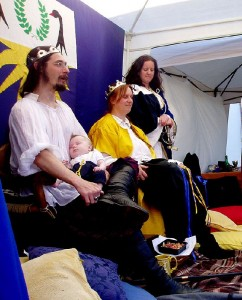 Craig Eideard MacGhille Aindrais and Morwenna Aelflaed o'r Glyn, sixth Baron and Baroness of Aneala. Photo courtesy of Sir André de Montségur.