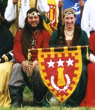 Sigurd Hardrada and Eleonora van den Bogaerde, first Baron and Baroness of Southron Gaard. Photo courtesy of Baroness Eleonora van den Bogaerde.