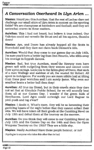 A Llyn Arien advertisement from Pegasus - July 1990 edition.