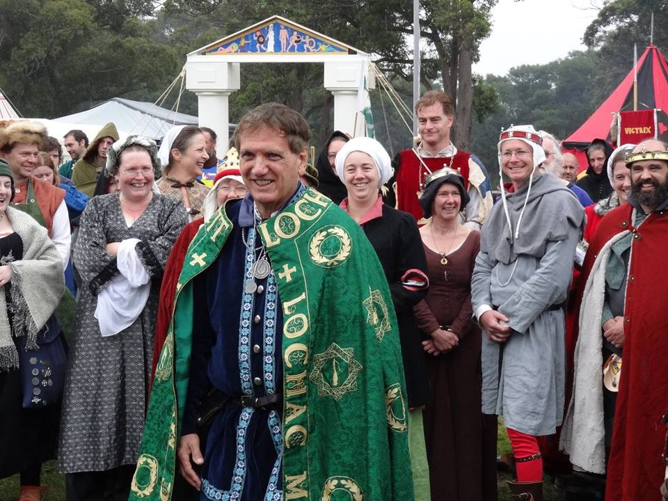 Baron Master William Blackwoode's Laurel ceremony. Photo by Viscountess Lucrezia Lorenz, April 2015.