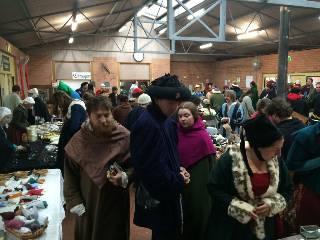 The markets inside the Great Hall at Festival AS49. Photo by THL Ceara Shionnach, April 2015.