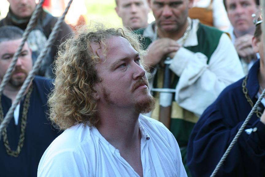 Andrew Daniels of Brockwood at his knighting - a member of House Deorc. Photo provided by Master WulfWine of Grimwald.