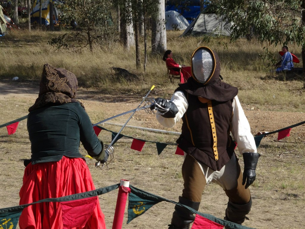 Alexous of Uri and El Lobo of House Deorc. Photo provided by Master WulfWine of Grimwald.