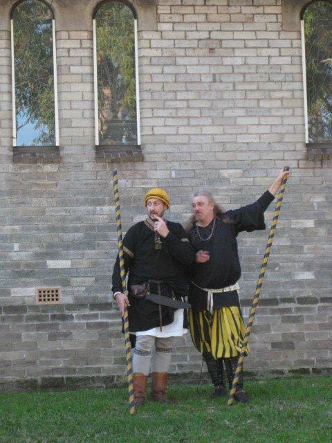 WulfWine of Grimwald and Damon Deorc. Photo provided by Master WulfWine of Grimwald.