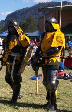 Damon Deorc and Andrew Daniels of Brockwood. Photo provided by Master WulfWine of Grimwald.