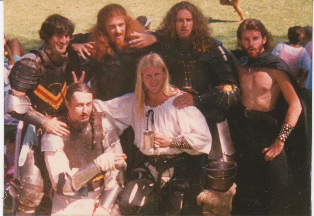 House Deorc group photo from 1986. Photo provided by Master WulfWine of Grimwald.