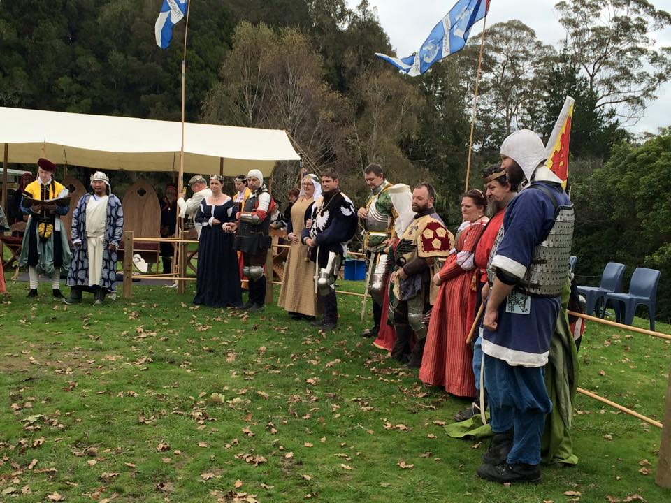 The King's side at May Crown AS L. Photo by THL Ceara Shionnach, May 2015.