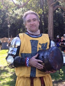 Lord Mark Ottignon, victor of Lochac's first Ultimate Fighter Series championship. Photo by Baroness Ginevra Lucia di Namoraza, June 2015.