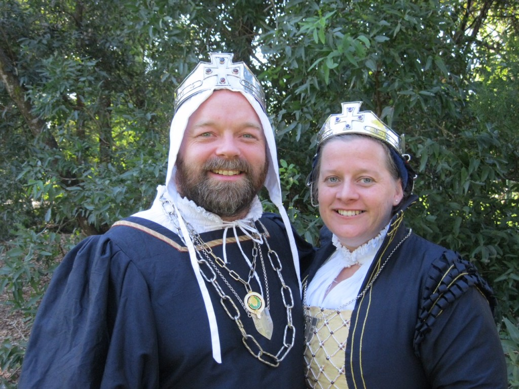 Prince Steffan and Princess Branwen. Photo provided by Their Highnesses, May 2015.