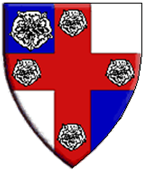 The arms used by the Royal Consort of Lochac, as displayed on the Lochac Roll of Arms.